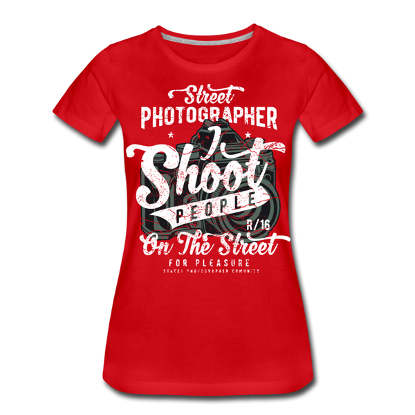 Street Photographer-Women's Premium T-Shirt - red