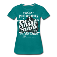 Load image into Gallery viewer, Street Photographer-Women's Premium T-Shirt - teal