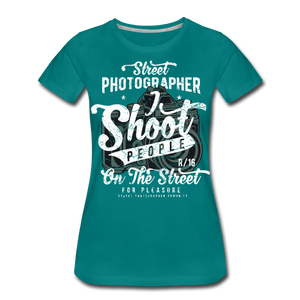 Street Photographer-Women's Premium T-Shirt - teal