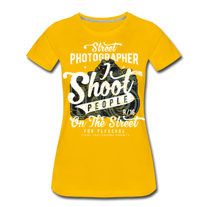 Street Photographer-Women's Premium T-Shirt - sun yellow