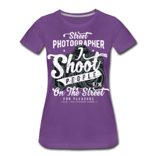 Load image into Gallery viewer, Street Photographer-Women's Premium T-Shirt - purple