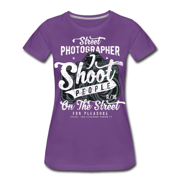 Street Photographer-Women's Premium T-Shirt - purple