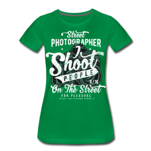 Load image into Gallery viewer, Street Photographer-Women's Premium T-Shirt - kelly green