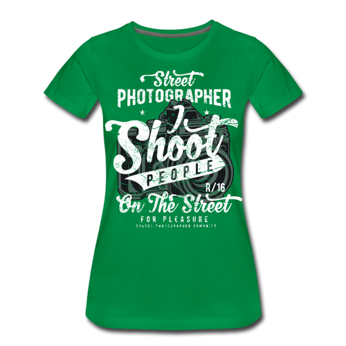 Street Photographer-Women's Premium T-Shirt - kelly green