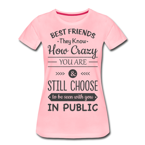 Best Friends-Women's Premium T-Shirt - pink