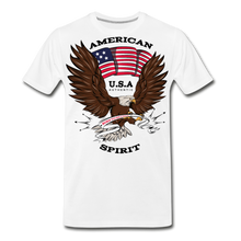 Load image into Gallery viewer, American Spirit-Men's Premium T-Shirt - white