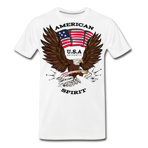 American Spirit-Men's Premium T-Shirt - white