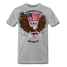 Load image into Gallery viewer, American Spirit-Men's Premium T-Shirt - heather gray