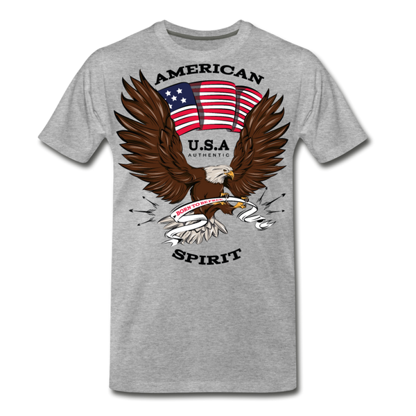 American Spirit-Men's Premium T-Shirt - heather gray