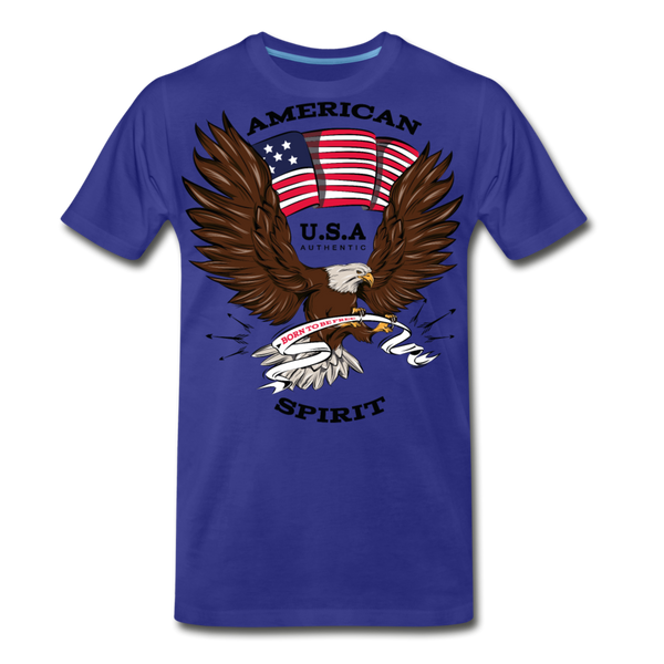 American Spirit-Men's Premium T-Shirt - royal blue