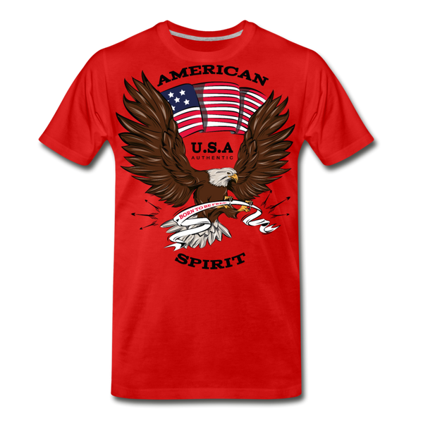 American Spirit-Men's Premium T-Shirt - red