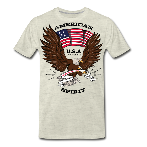 American Spirit-Men's Premium T-Shirt - heather oatmeal