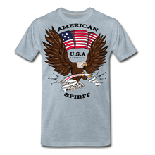 Load image into Gallery viewer, American Spirit-Men's Premium T-Shirt - heather ice blue
