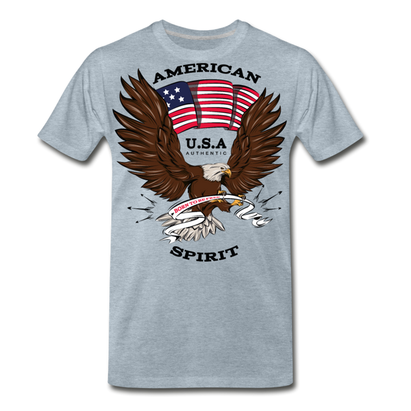 American Spirit-Men's Premium T-Shirt - heather ice blue