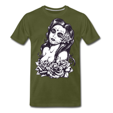 Load image into Gallery viewer, Tattoo Lady-Men's Premium T-Shirt - olive green