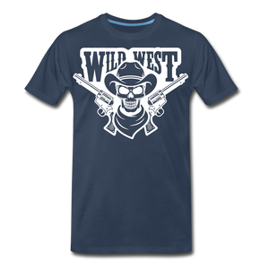 Wild West-Men's Premium T-Shirt - navy