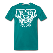 Load image into Gallery viewer, Wild West-Men's Premium T-Shirt - teal