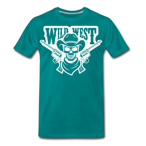 Wild West-Men's Premium T-Shirt - teal