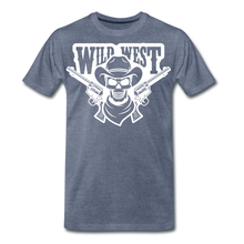 Load image into Gallery viewer, Wild West-Men's Premium T-Shirt - heather blue