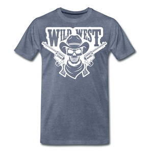Wild West-Men's Premium T-Shirt - heather blue