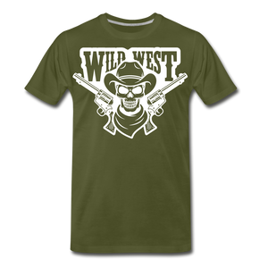 Wild West-Men's Premium T-Shirt - olive green