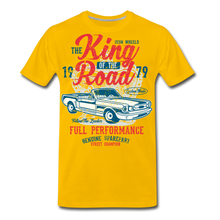 Load image into Gallery viewer, King Of The Road-Men's Premium T-Shirt - sun yellow