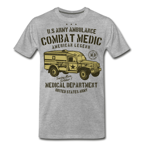 Combat Medic-Men's Premium T-Shirt - heather gray