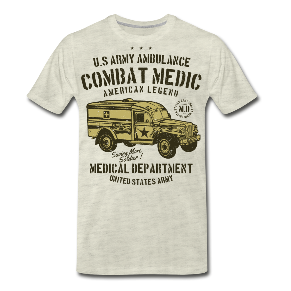 Combat Medic-Men's Premium T-Shirt - heather oatmeal