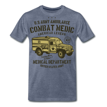 Load image into Gallery viewer, Combat Medic-Men's Premium T-Shirt - heather blue