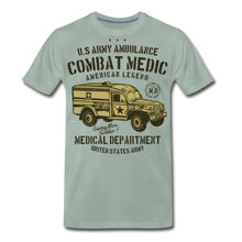 Load image into Gallery viewer, Combat Medic-Men's Premium T-Shirt - steel green