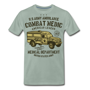Combat Medic-Men's Premium T-Shirt - steel green