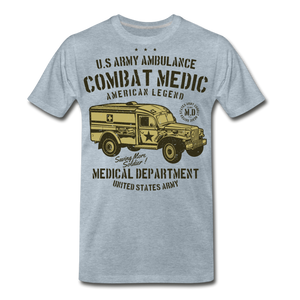 Combat Medic-Men's Premium T-Shirt - heather ice blue