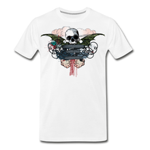 Load image into Gallery viewer, Skull-Men's Premium T-Shirt - white