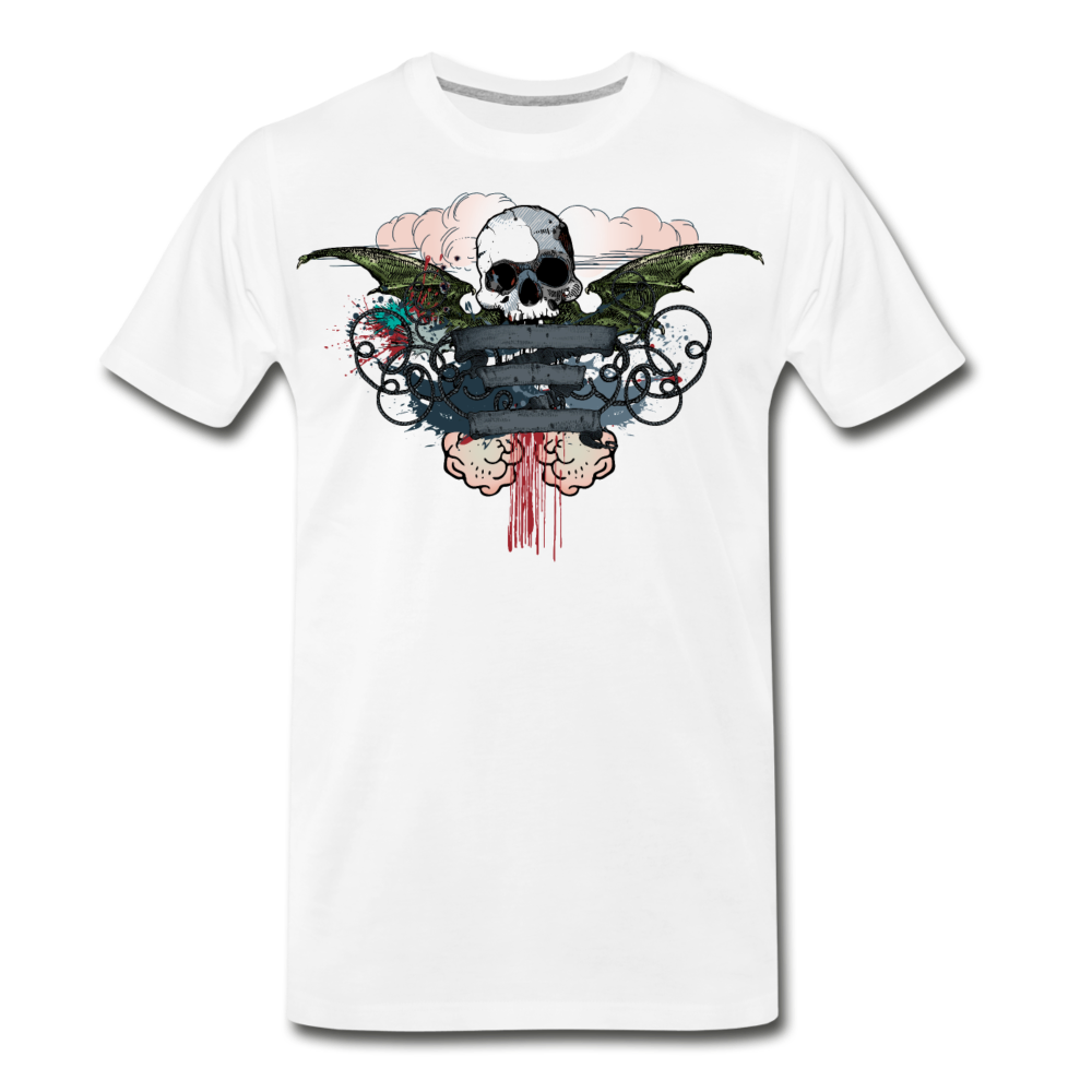 Skull-Men's Premium T-Shirt - white