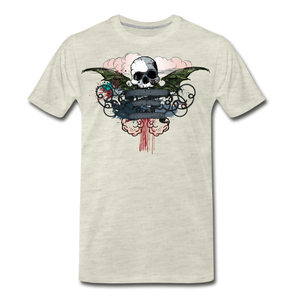 Skull-Men's Premium T-Shirt - heather oatmeal