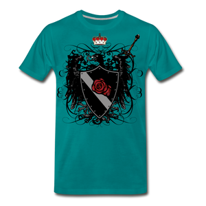 Crest-Men's Premium T-Shirt - teal