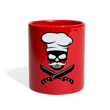 Load image into Gallery viewer, Skull Cook-Full Color Mug - red