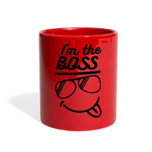 Load image into Gallery viewer, I'm The Boss-Full Color Mug - red