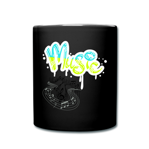 Music-Full Color Mug - black