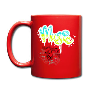 Music-Full Color Mug - red
