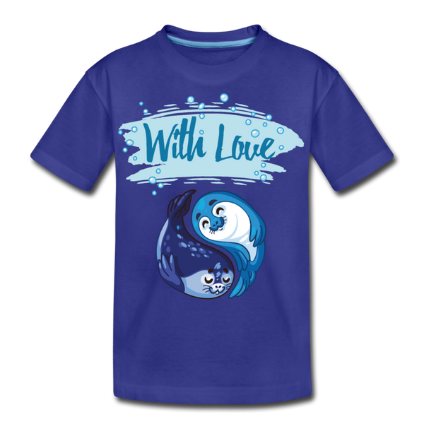 With Love-Kids' Premium T-Shirt - royal blue