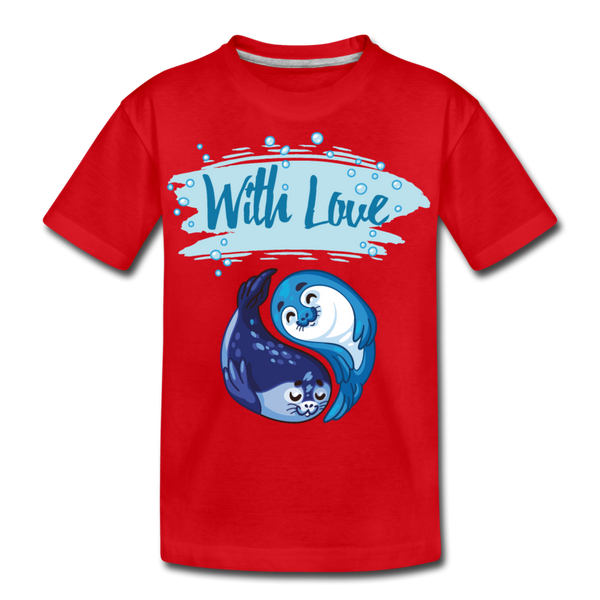 With Love-Kids' Premium T-Shirt - red