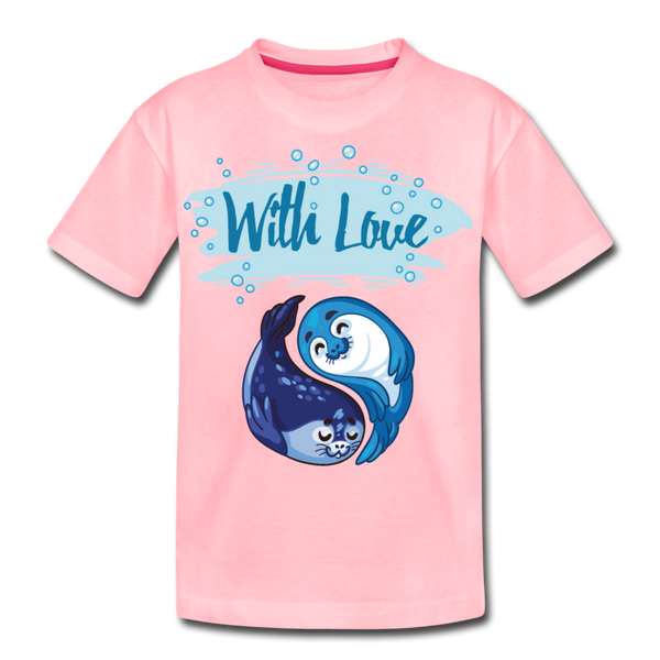 With Love-Kids' Premium T-Shirt - pink