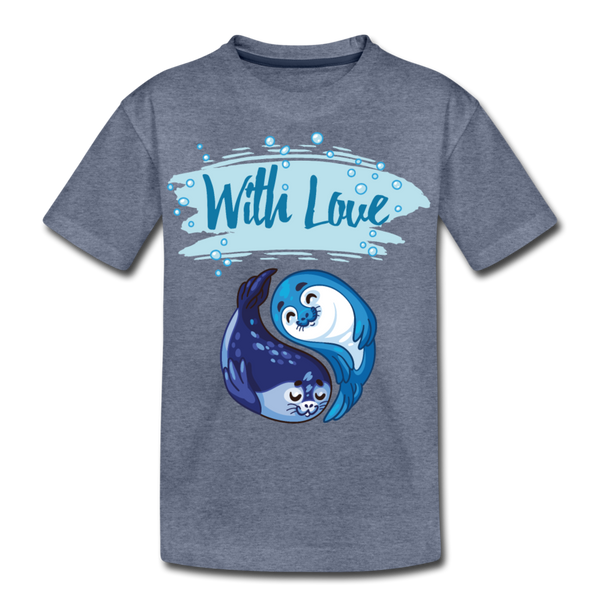 With Love-Kids' Premium T-Shirt - heather blue