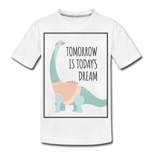 Tomorrow-Kids' Premium T-Shirt - white