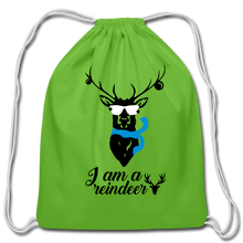 Load image into Gallery viewer, I am -Cotton Drawstring Bag - clover