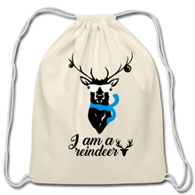 Load image into Gallery viewer, I am -Cotton Drawstring Bag - natural