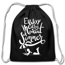 Load image into Gallery viewer, Enjoy -Cotton Drawstring Bag - black