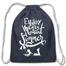Load image into Gallery viewer, Enjoy -Cotton Drawstring Bag - navy