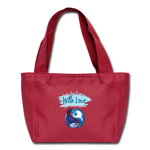 With Love-Lunch Bag - red